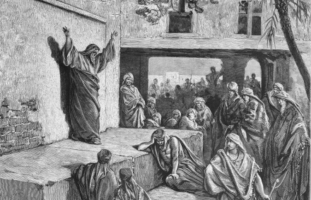Micah the Moreshite prophet preaching to the Israelites